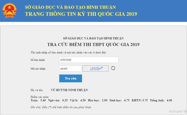 Thực hư Bình Thuận đã tra cứu được điểm thi THPT Quốc gia 2019? - Ảnh 2.
