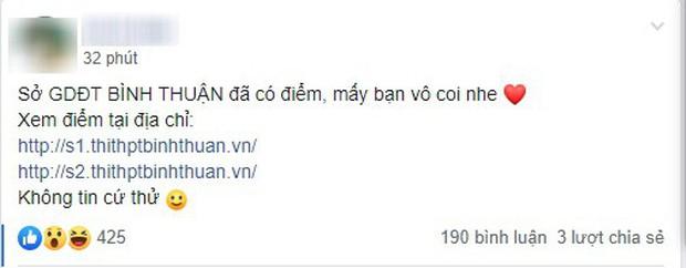Thực hư Bình Thuận đã tra cứu được điểm thi THPT Quốc gia 2019? - Ảnh 1.
