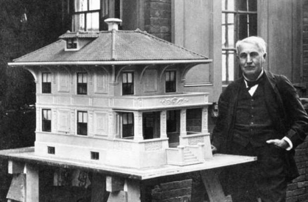 Thomas Edison là người sáng chế ra quy trình xây nhà bằng bê tông đúc sẵn một lần