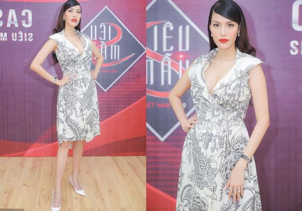 Diện lại váy cách đây 2 năm khi đang bầu bí, Lan Khuê khéo thay đổi một chi tiết để tốt cho em bé - Ảnh 2.