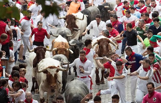 Thêm 8 người phải nhập viện trong lễ hội rượt bò tót ở Tây Ban Nha - Ảnh 1.