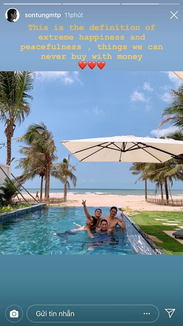 Sau thành công Hãy trao cho anh, Sơn Tùng M-TP đưa cả gia đình đi nghỉ mát cực sang chảnh, mặc đi bơi vẫn nhất quyết không khoe body! - Ảnh 2.