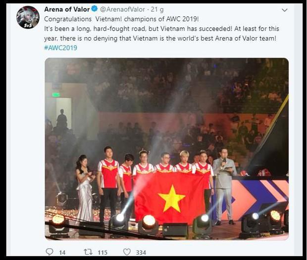 Liên Quân Mobile: Chấn động, Tencent tuyên bố VN vô địch AWC khi Chung kết chưa kết thúc - Ảnh 4.