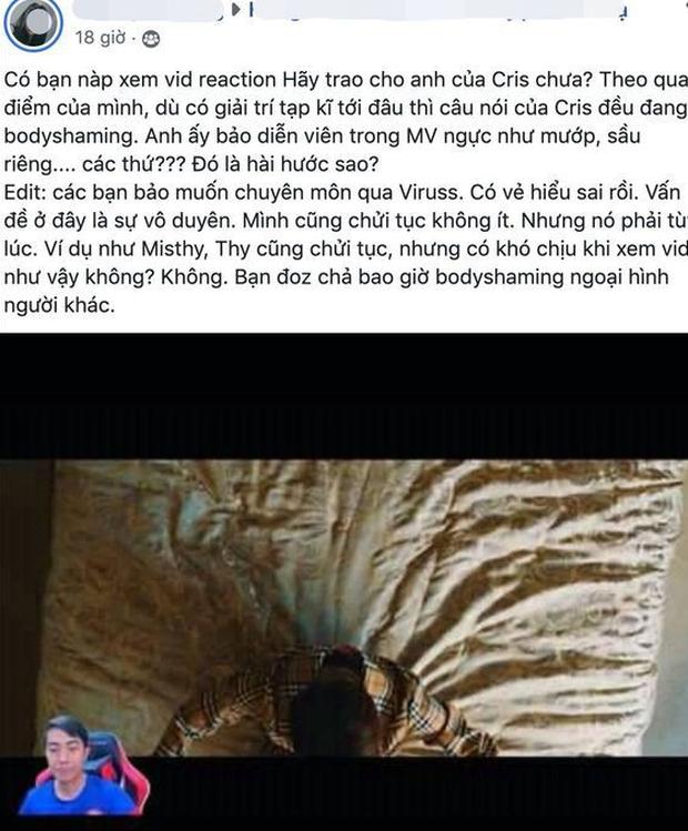 Cris Phan xin lỗi, giải thích việc body shaming mẫu nữ trong MV của Sơn Tùng M-TP: Mình hay trêu ghẹo các bạn, chứ không có ý gì - Ảnh 2.