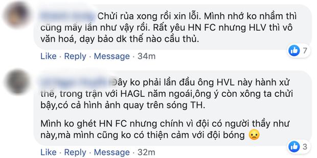 HLV Hà Nội FC xin lỗi trọng tài vì hành xử xấu xí, bị gọi là người đáng ghét nhất đội bóng thủ đô - Ảnh 3.