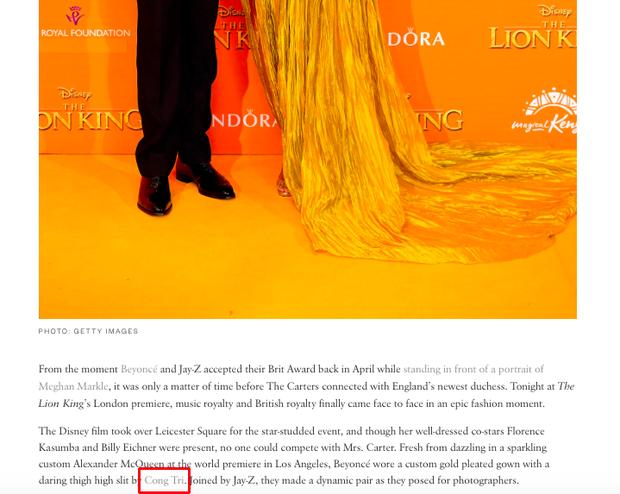 Beyonce khiến cả thế giới nín thở với một chiếc đầm xẻ tít đến tận hông, và đó là sáng tạo của NTK Công Trí! - Ảnh 3.