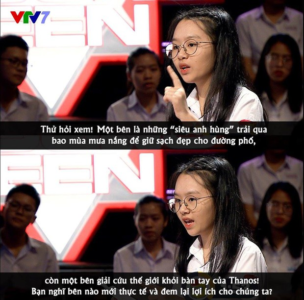 Nữ sinh Hà Nội bị ném đá trên sóng truyền hình khi so sánh Siêu anh hùng với nhân viên quét dọn đường phố - Ảnh 1.