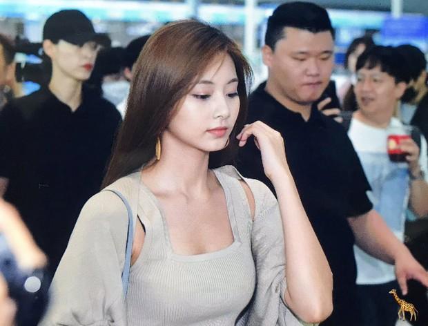 Nữ thần thế hệ mới Tzuyu (TWICE) gây choáng với vẻ đẹp xuất thần và biểu cảm của nhân viên sân bay nói lên tất cả - Ảnh 9.