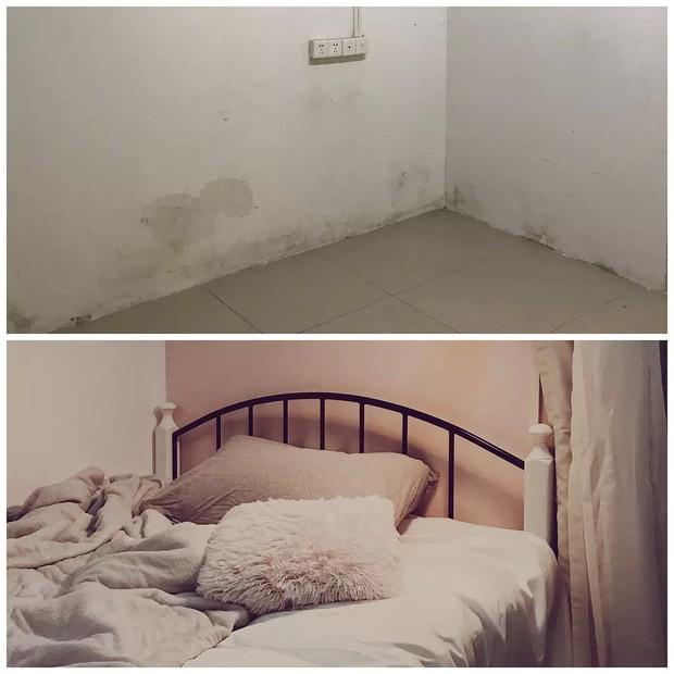 Thuê phải căn phòng trọ 15m2 ẩm mốc, cô gái dành hẳn 2 tháng liền để cải tạo thành không gian sống ấm cúng - Ảnh 2.