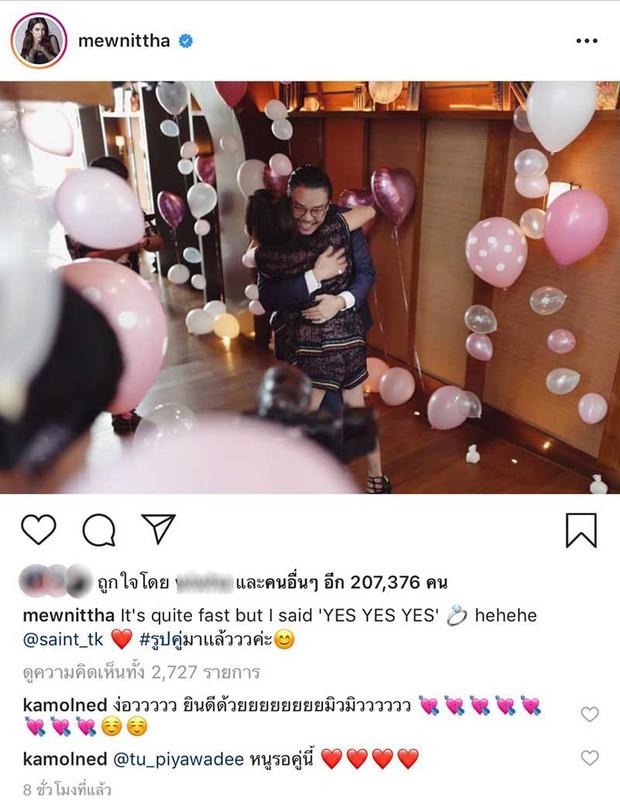 Showbiz Thái chuẩn bị đón thêm đám cưới vàng: Mỹ nhân Mew Nittha chính thức nhận lời cầu hôn của bạn trai gia thế khủng - Ảnh 1.