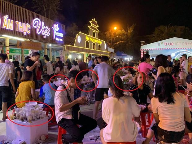 Sốc với cảnh tượng rác ngập tận mắt đêm khai mạc Festival Văn hóa ẩm thực du lịch Quốc tế ở Nghệ An - Ảnh 3.