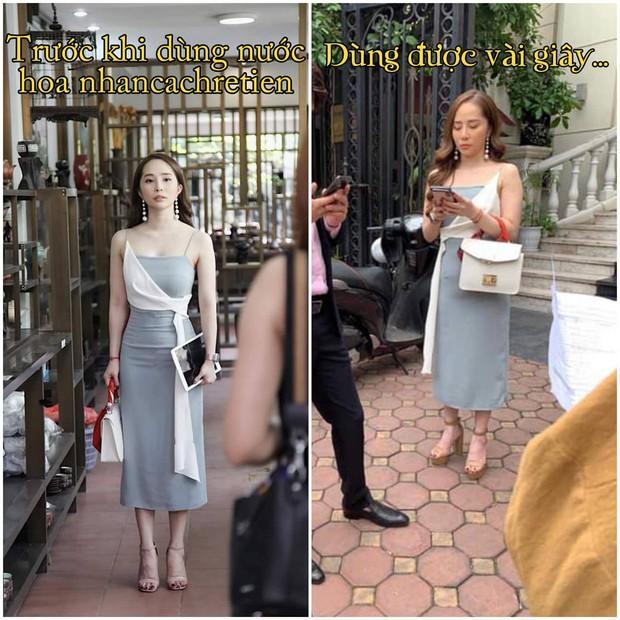 Bức ảnh Nhã trên phim so với ngoài đời: Cùng 1 con người, 1 chiếc váy mà khác nhau trời vực thế này? - Ảnh 1.