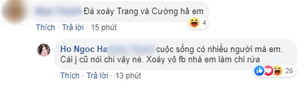 Bị netizen nghi ngờ đá xoáy Cường Đô La và Đàm Thu Trang khi đăng status đầy ẩn ý, Hồ Ngọc Hà thẳng thắn đáp trả - Ảnh 2.