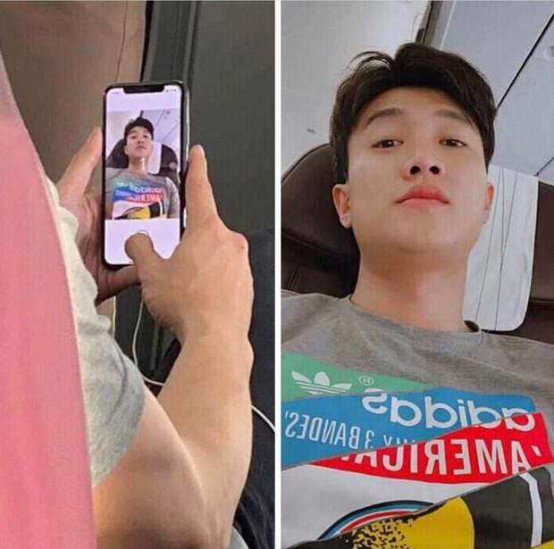 """Sức hút của Quốc Trường sau """"Về nhà đi con"""": Ngồi selfie trên máy bay cũng bị fan theo sát chụp lén - Ảnh 1."""