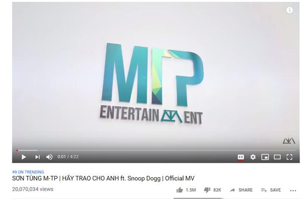 """Cột mốc 20 triệu view của MV """"Hãy Trao Cho Anh"""": Vượt EXO, Red Velvet nhưng có thể san bằng kỉ lục BTS, BLACKPINK? - Ảnh 1."""