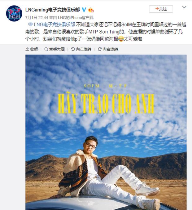 LMHT: Biết SofM là Sky chính hiệu, LNG Esports cũng tranh thủ câu view cho MV mới của Sơn Tùng MTP - Ảnh 1.