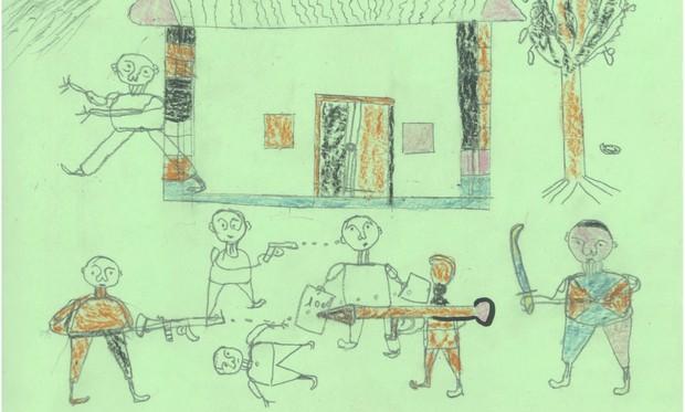 Bức tranh rùng rợn về bố của đứa trẻ 5 tuổi tại siêu thị gây xôn xao mạng xã hội, như lời kêu cứu trong vô vọng - Ảnh 3.