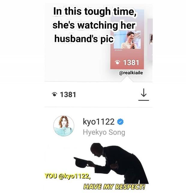 Ơn giời, Song Hye Kyo cuối cùng đã lộ diện: Âm thầm xem ảnh chồng Song Joong Ki khi cả thế giới đồn ngoại tình - Ảnh 4.