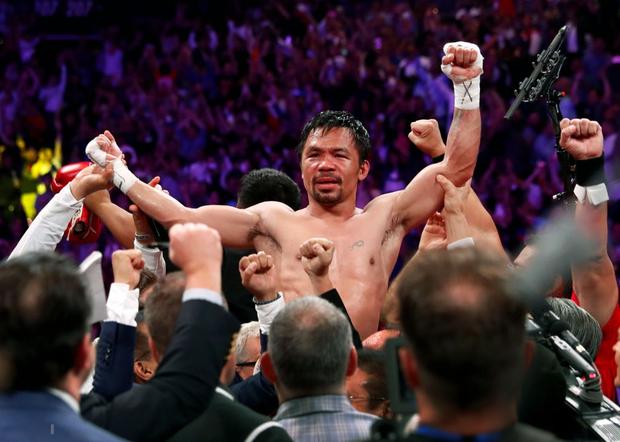 Huyền thoại Manny Pacquiao đánh như lên đồng ở tuổi 40, làm nhà vô địch bất bại người Mỹ phải câm lặng - Ảnh 10.