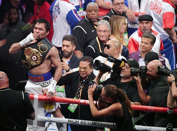 Huyền thoại Manny Pacquiao đánh như lên đồng ở tuổi 40, làm nhà vô địch bất bại người Mỹ phải câm lặng - Ảnh 11.