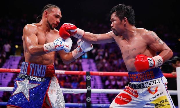 Huyền thoại Manny Pacquiao đánh như lên đồng ở tuổi 40, làm nhà vô địch bất bại người Mỹ phải câm lặng - Ảnh 5.