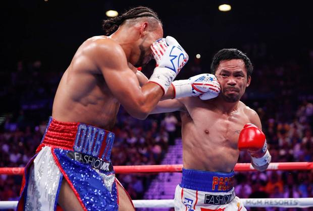 Huyền thoại Manny Pacquiao đánh như lên đồng ở tuổi 40, làm nhà vô địch bất bại người Mỹ phải câm lặng - Ảnh 8.