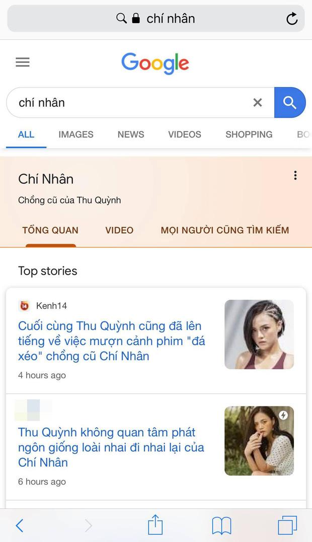 Hậu lùm xùm hôn nhân Google trả kết quả: Thu Quỳnh là diễn viên, Chí Nhân là chồng cũ Thu Quỳnh còn Minh Hà là nobody - Ảnh 2.
