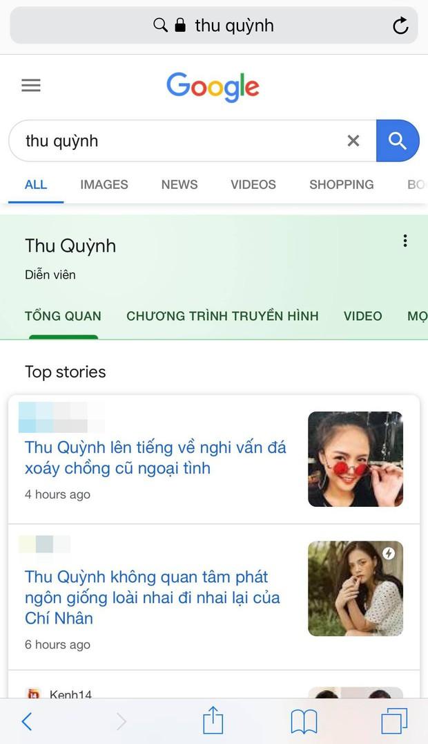 Hậu lùm xùm hôn nhân Google trả kết quả: Thu Quỳnh là diễn viên, Chí Nhân là chồng cũ Thu Quỳnh còn Minh Hà là nobody - Ảnh 1.