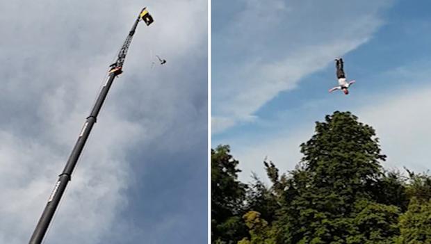 Bị tuột dây khi nhảy bungee, người đàn ông rơi tự do gần 100m xuống đất - Ảnh 2.