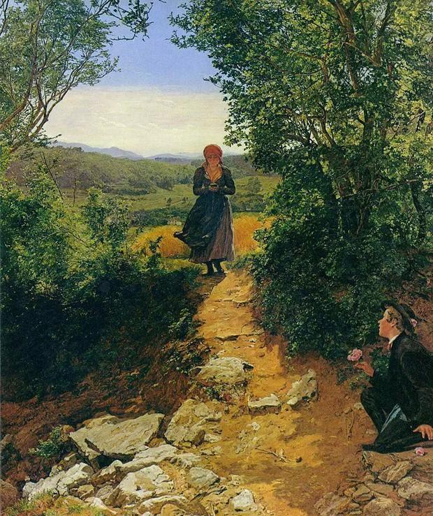 Sự thật về bức tranh cô gái cắm mặt vào điện thoại năm 1850 gây xôn xao: Có hay không giả thiết xuyên không? - Ảnh 1.