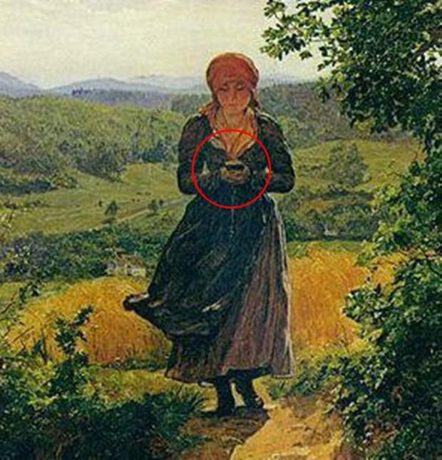Sự thật về bức tranh cô gái cắm mặt vào điện thoại năm 1850 gây xôn xao: Có hay không giả thiết xuyên không? - Ảnh 2.