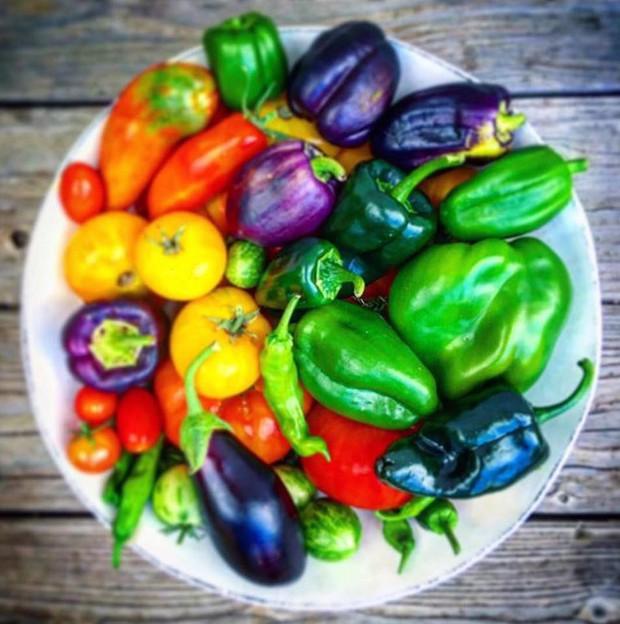 Không những sở hữu khu vườn với đủ loại rau xanh và trái ngọt, bà mẹ 2 con này còn xếp củ quả chụp ảnh siêu đẹp - Ảnh 14.