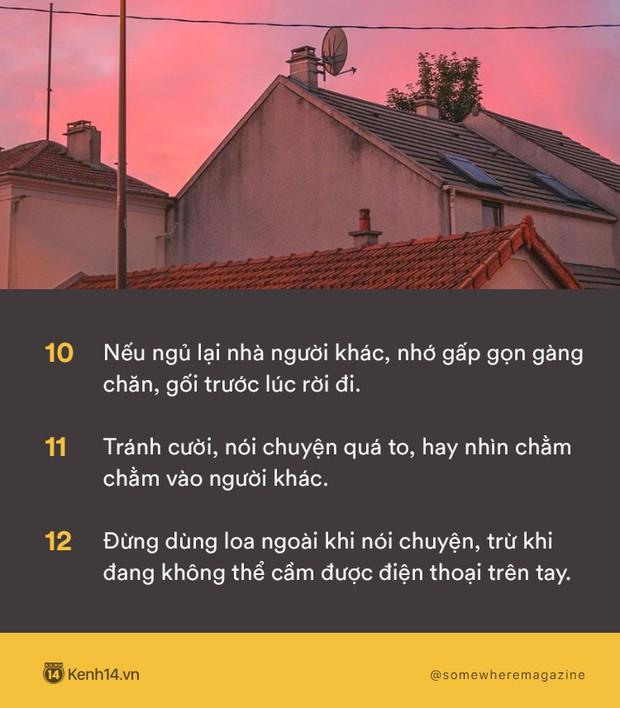 Không cần biết nhiều chỉ cần biết điều: Nằm lòng 30 quy tắc này để không bao giờ biến mình thành kẻ bất lịch sự - Ảnh 4.