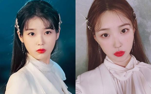 IU có nằm mơ cũng không ngờ có người chỉ nhờ makeup mà cũng thành chị em sinh đôi của mình - Ảnh 2.
