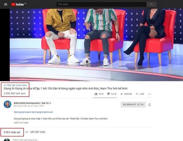 Giọng ải giọng ai lên thẳng top 1 trending YouTube ngay tập mở màn mùa 4 - Ảnh 3.