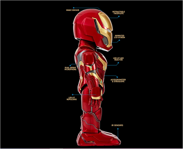 Xiaomi ra mắt robot Iron Man MARK50, có thể di chuyển, cử động tay chân nhưng mặt hơi thộn - Ảnh 2.