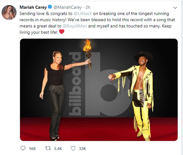 Old Town Road chính thức phá kỉ lục của Mariah Carey, xác lập thành tích mới trên BXH Billboard Hot 100! - Ảnh 3.