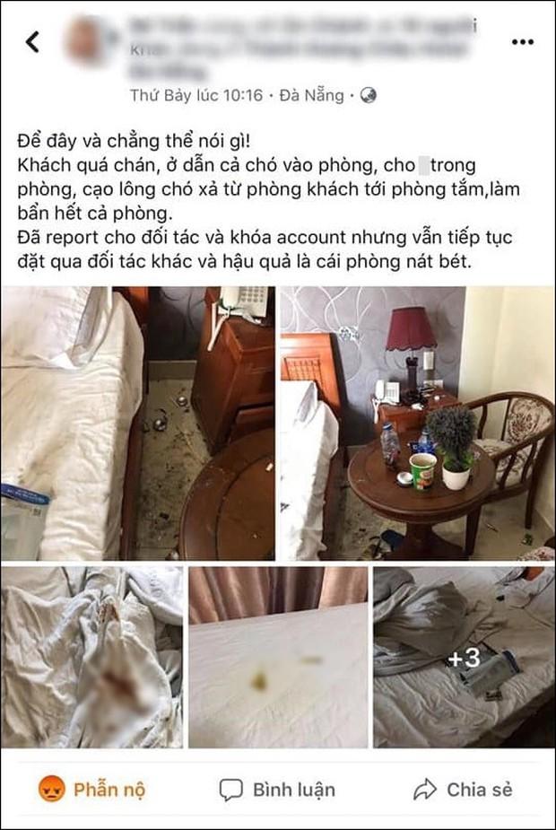 Bức xúc cặp đôi lén đưa chó vào phòng khách sạn ở Đà Nẵng bất chấp quy định cấm, để thú cưng phóng uế lên giường rồi thản nhiên rời đi - Ảnh 1.