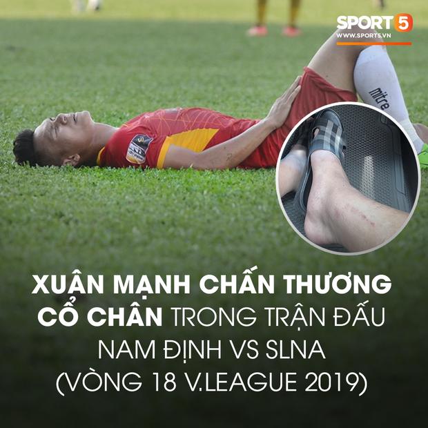 Hãi hùng với chấn thương của các cầu thủ thi đấu V.League: Ai nói bóng đá Việt nhàm chán và thiếu lửa? - Ảnh 2.