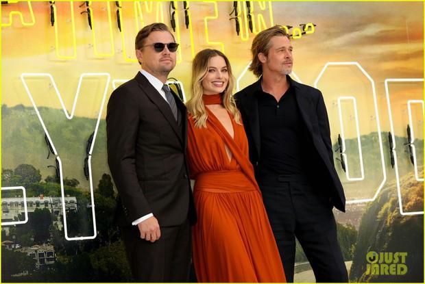 Thảm đỏ Once Upon a Time in Hollywood: Bộ đôi Leonardo - Brad Pitt bảnh bao bên Harley Quinn, sao mặc lố chiếm trọn spotlight - Ảnh 1.