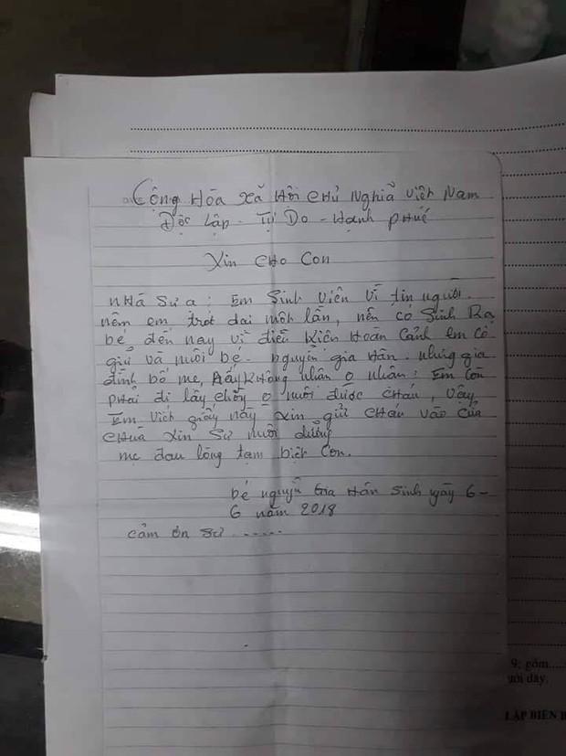 Nam Định: Nữ sinh để lại con gái đáng yêu ở chùa kèm lá thư em còn phải đi lấy chồng - Ảnh 2.