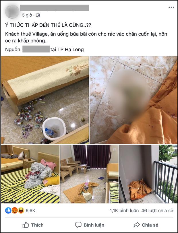 Kinh hoàng bãi chiến trường nhóm bạn trẻ để lại sau khi thuê villa nghỉ dưỡng: Nôn đầy sàn, rác thì gói giấu vào... chăn - Ảnh 1.