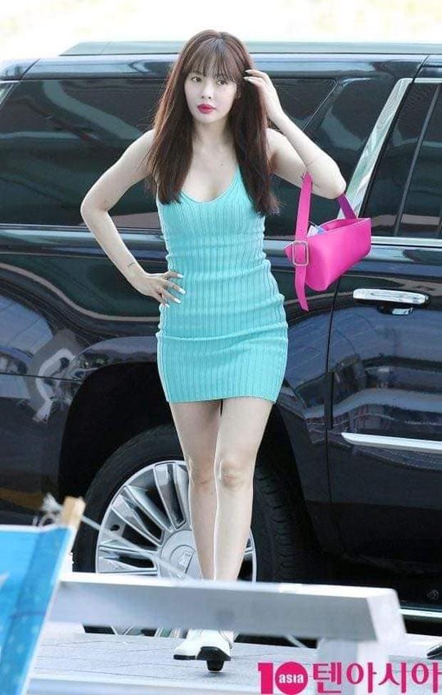 Hyuna ra sân bay tươi không cần tưới nhưng đôi môi sưng phồng bị nghi tiêm filler mới là thứ chiếm mọi spotlight - Ảnh 4.