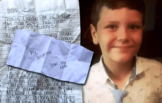 Lo con trai tự kỷ đi máy bay 1 mình, mẹ đưa tờ giấy nhắn với 10 đô la rồi nhận về kết quả không thể ngọt ngào hơn - Ảnh 2.