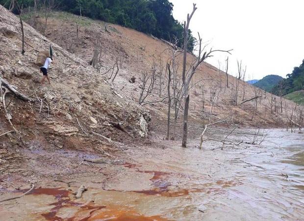 Lòng hồ lớn nhất Bắc Trung Bộ cạn trơ đáy, dân phải lội bùn cả cây số để đi - Ảnh 9.