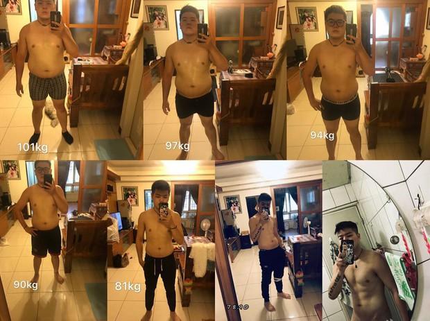 Từ 101kg xuống 75kg trong nửa năm, cậu bạn người Đài Loan lột xác với thân hình 6 múi khiến ai cũng bất ngờ - Ảnh 2.