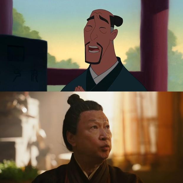 Mulan của Lưu Diệc Phi với bản gốc hoạt hình: Giống nhau đến từng khung ảnh! - Ảnh 3.