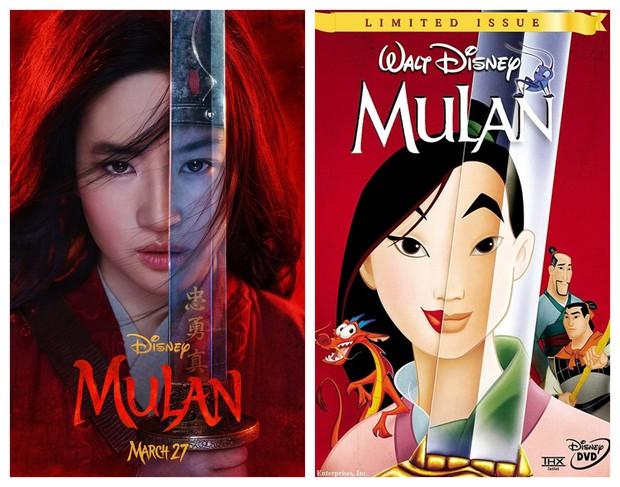 Mulan của Lưu Diệc Phi với bản gốc hoạt hình: Giống nhau đến từng khung ảnh! - Ảnh 1.