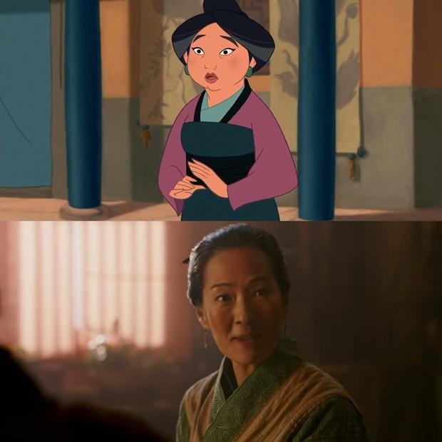 Mulan của Lưu Diệc Phi với bản gốc hoạt hình: Giống nhau đến từng khung ảnh! - Ảnh 5.