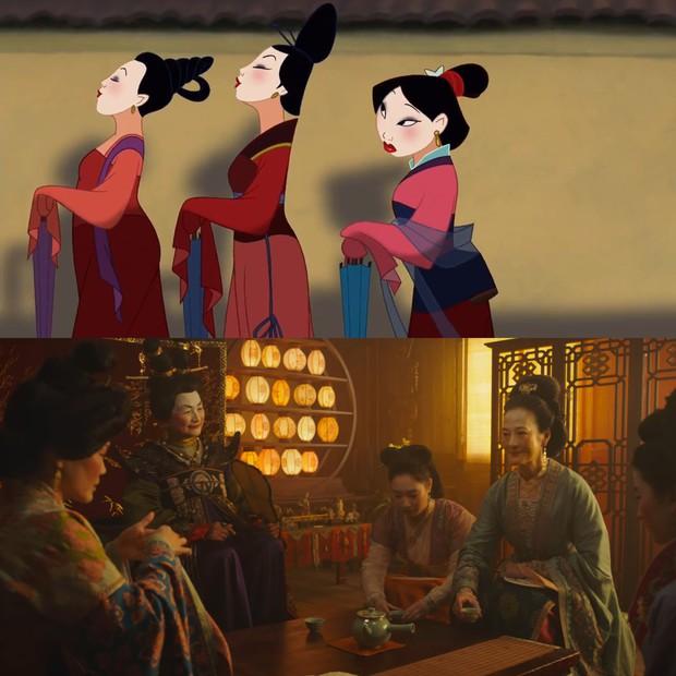 Mulan của Lưu Diệc Phi với bản gốc hoạt hình: Giống nhau đến từng khung ảnh! - Ảnh 11.